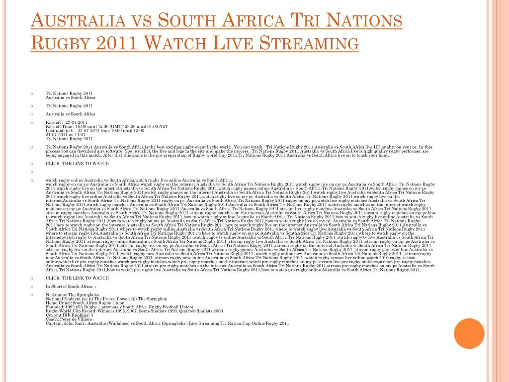 australia vs south africa tri nations rugby 2011 watch live streaming l.