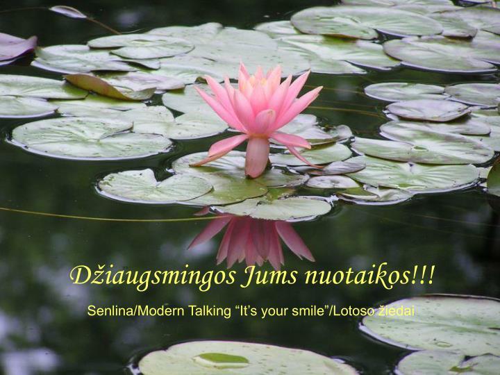 Džiaugsmingos Jums nuotaikos!!!