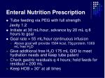enteral nutrition prescription