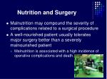 nutrition and surgery