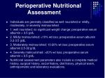 perioperative nutritional assessment