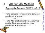 1 ad and as method