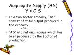 aggregate supply as y c s