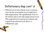 inflationary gap cont d