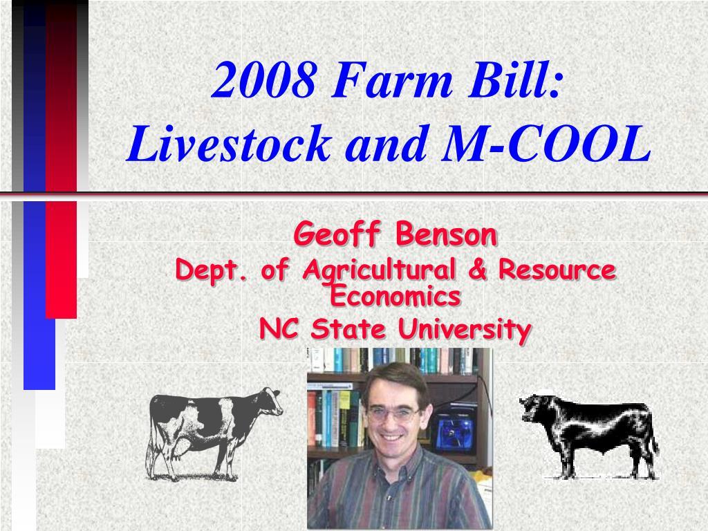 2008 Farm Bill: