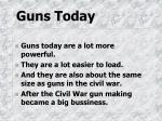 guns today