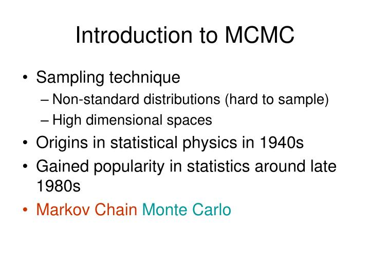 Introduction to mcmc
