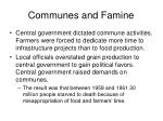 communes and famine