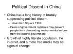 political dissent in china