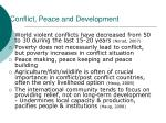 conflict peace and development