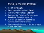 mind to muscle pattern