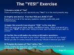 the yes exercise