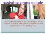assisting young people