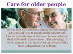 care for older people