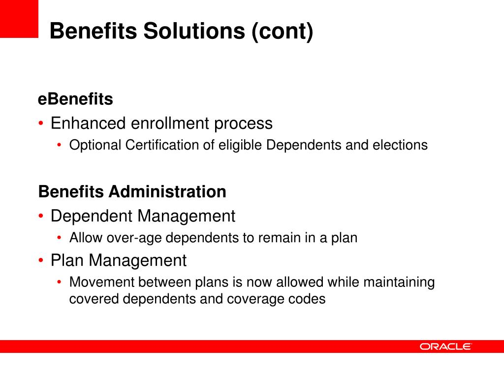 Benefits Solutions (cont)
