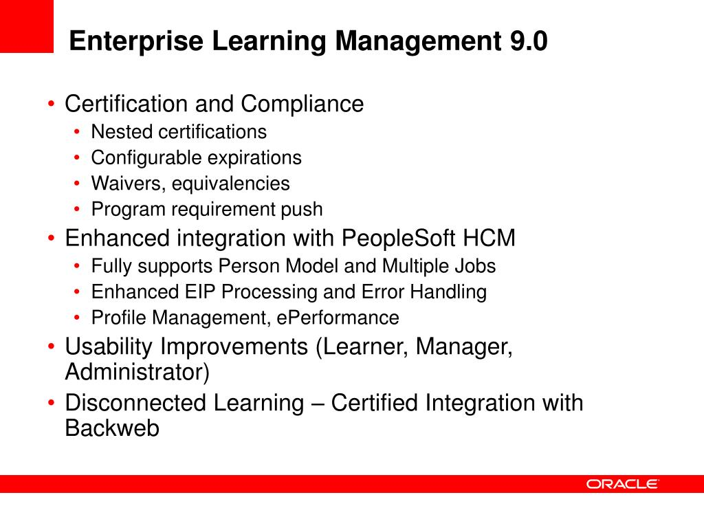 Enterprise Learning Management 9.0