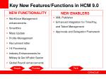 key new features functions in hcm 9 0