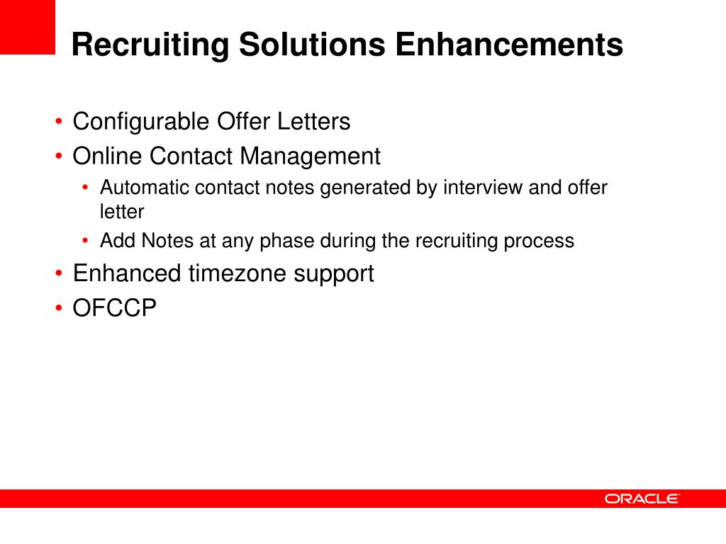 Recruiting Solutions Enhancements