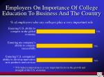 employers on importance of college education to business and the country