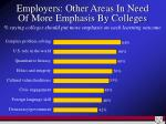 employers other areas in need of more emphasis by colleges