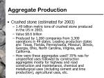 aggregate production77