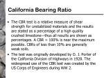 california bearing ratio