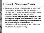 lesson 2 discussion forum