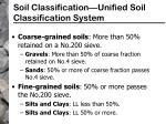 soil classification unified soil classification system18