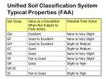 unified soil classification system typical properties faa27