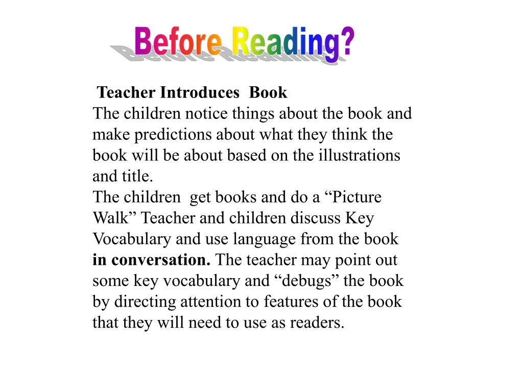 Before Reading?
