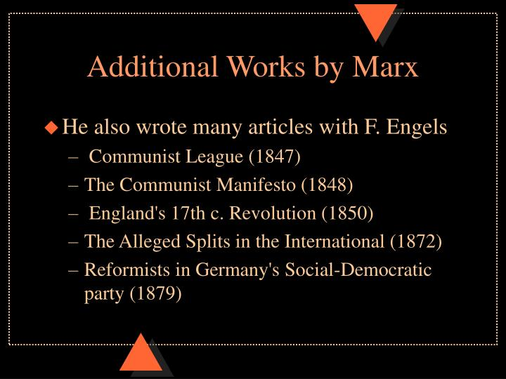 Additional works by marx