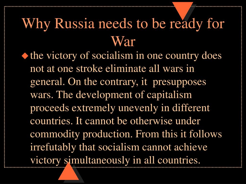 Why Russia needs to be ready for War