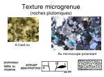 texture microgrenue roches plutoniques