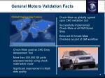 general motors validation facts