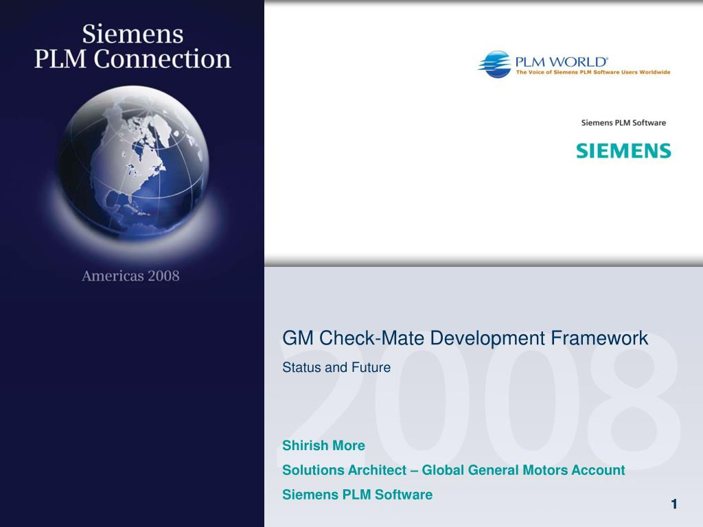 gm check mate development framework status and future l.