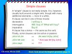 simple clauses