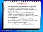 verb phrases