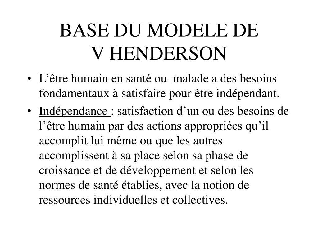 BASE DU MODELE DE