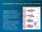 costimulation is necessary for t cell activation