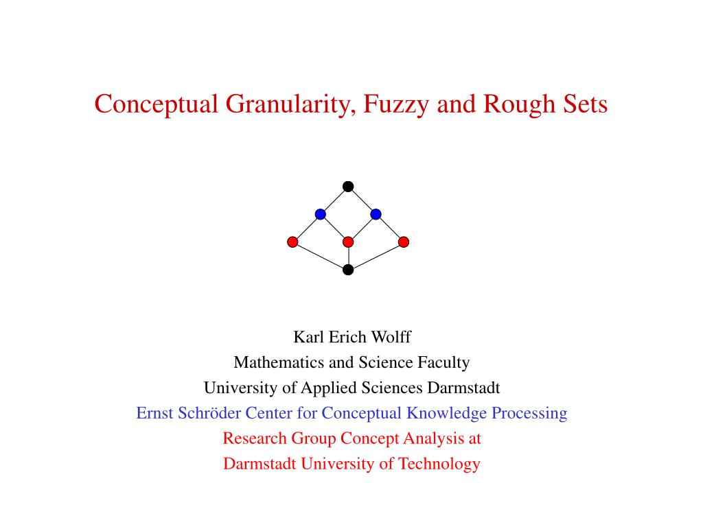 conceptual granularity fuzzy and rough sets l.