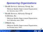 sponsoring organizations