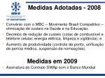 medidas adotadas 2008