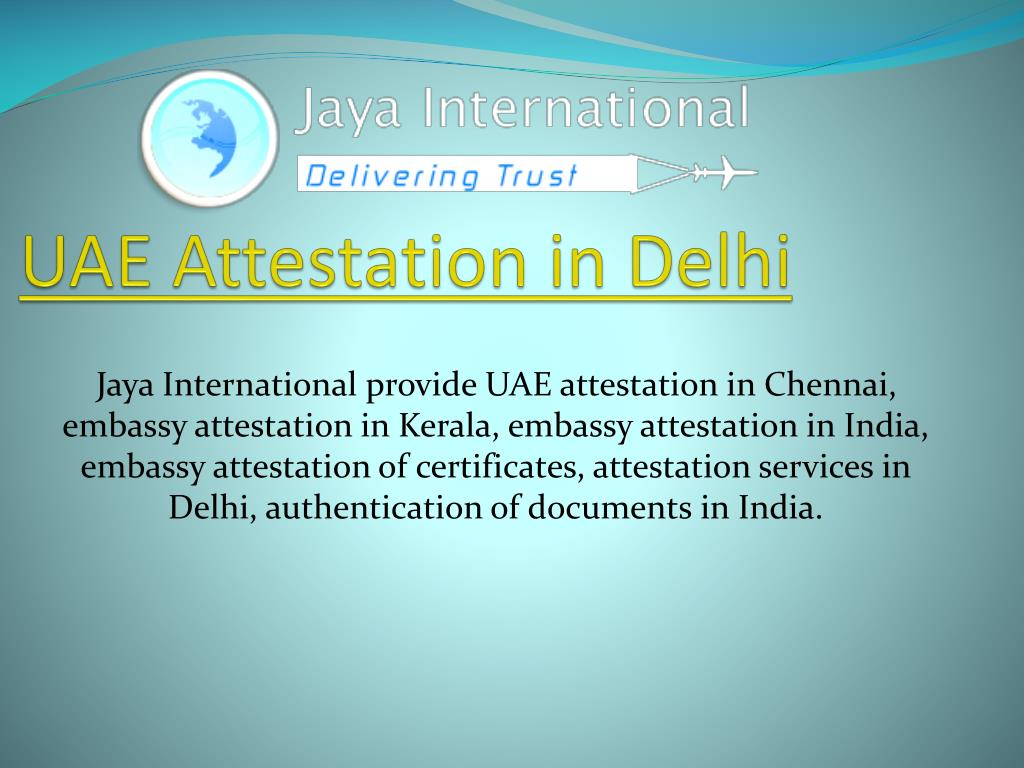 uae attestation in delhi l.