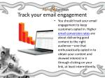 track your email engagement