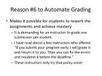 reason 6 to automate grading