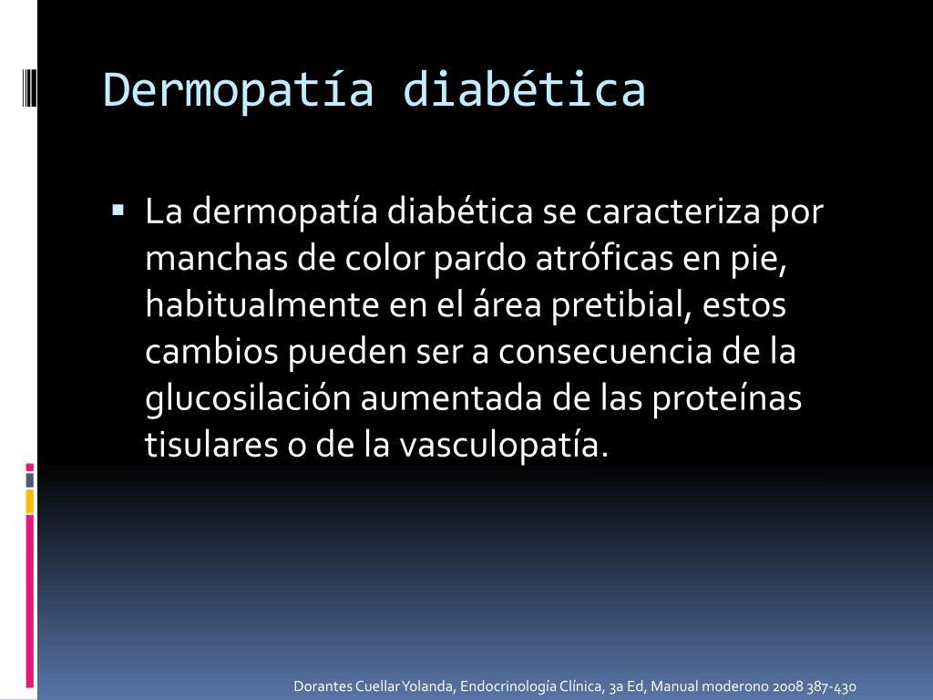Dermopatía diabética