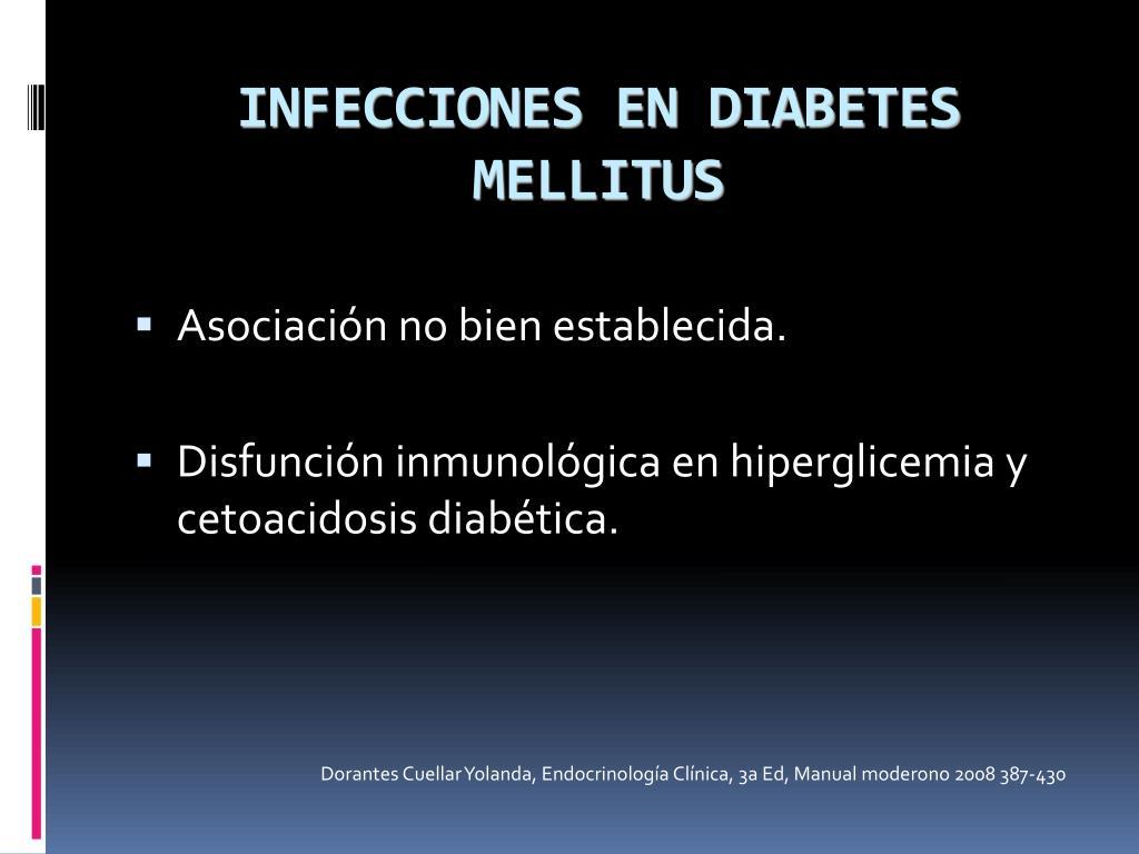 INFECCIONES EN DIABETES MELLITUS