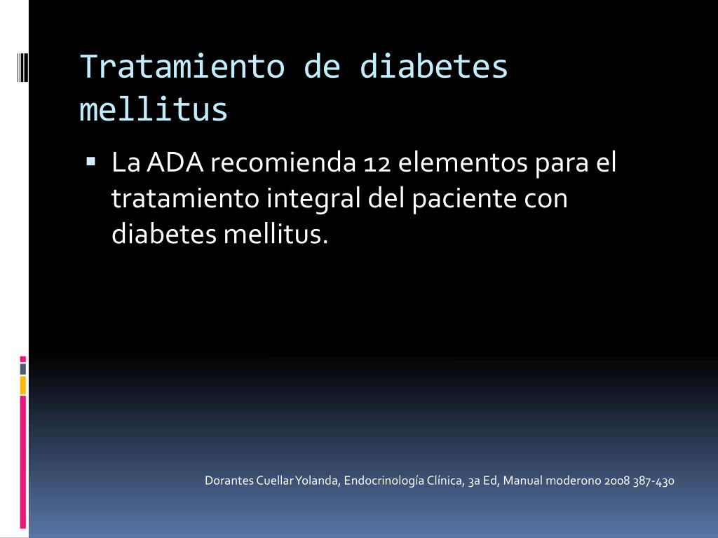 Tratamiento de diabetes