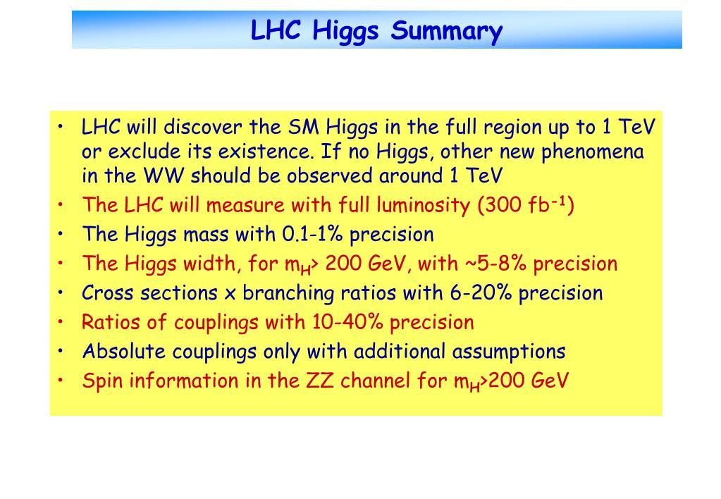 LHC Higgs Summary
