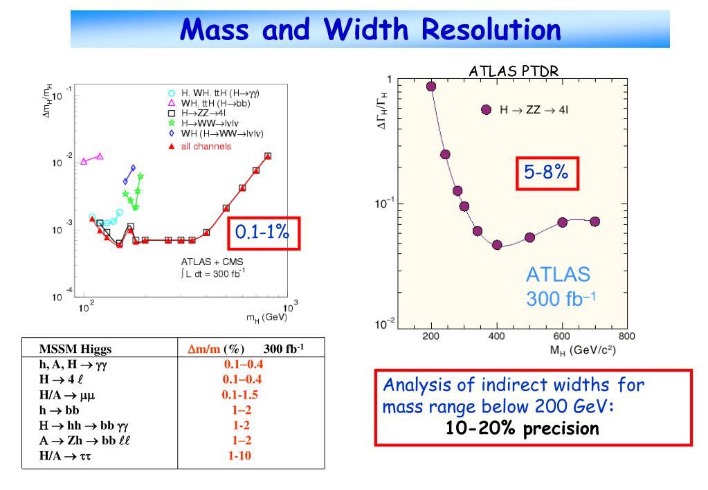 Mass and Width Resolution